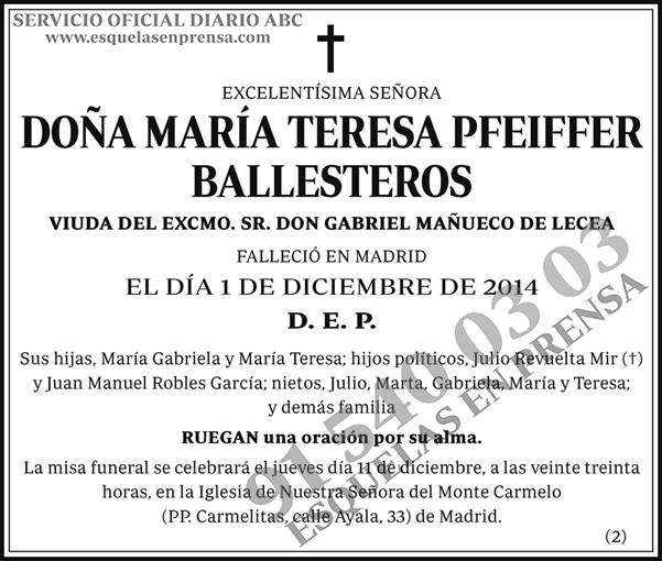 María Teresa Pfeiffer Ballesteros